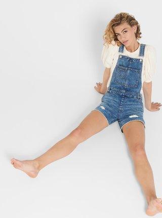 Modré rifľové nohavice na traky ONLY