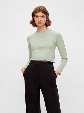 Tričká s dlhým rukávom pre ženy Pieces - svetlozelená