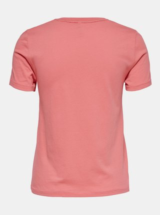 Růžové tričko s potiskem ONLY
