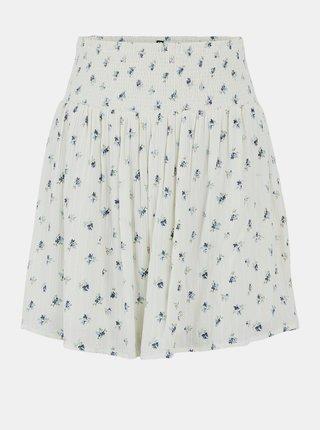 Krémová květovaná sukně Pieces Thea