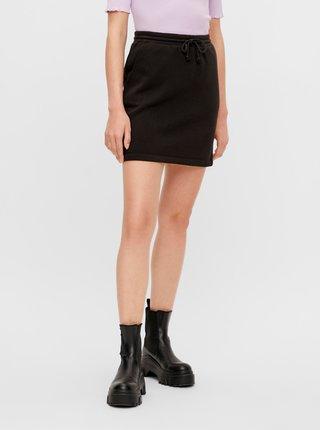 Černá sukně se zavazováním Pieces Chilli