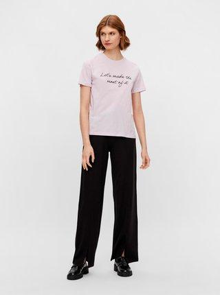 Světle fialové tričko s nápisem Pieces Sissi