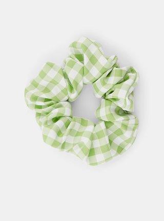 Zelená kockovaná gumička Pieces Mecks