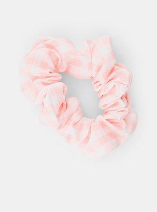 Ružová kockovaná gumička Pieces Mecks