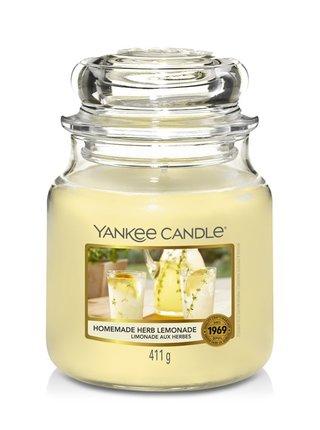 Yankee Candle vonná svíčka Homemade Herb Lemonade Classic střední
