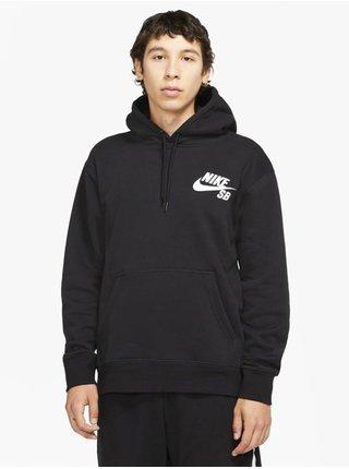 Nike SB ICON black/white mikiny přes hlavu pánská - černá