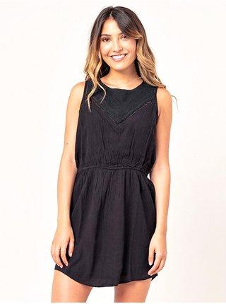 Rip Curl SWEET PARADISE black krátké letní šaty - černá