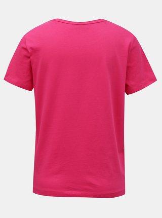 Guess ružové tričko Icon Logo T-shirt