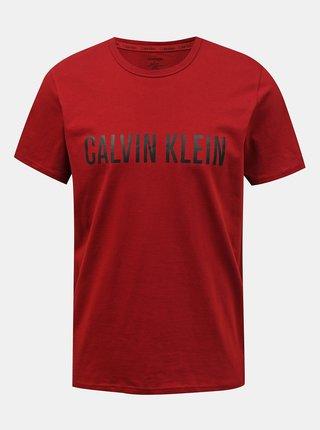 Calvin Klein vínové/bordové pánske tričko S/S Crew Neck