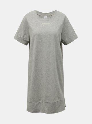 Calvin Klein šedé domácí šaty S/S Nightdress