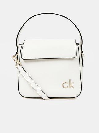 Calvin Klein biele kabelka Hobo W/Flap