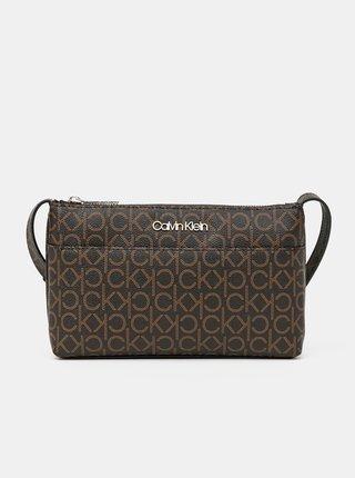 Calvin Klein hnědá crossbody kabelka EW Xbody Monogram