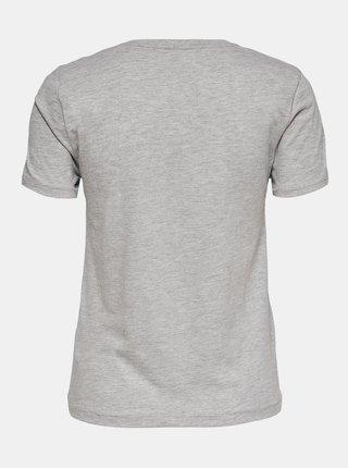 Šedé tričko s potiskem ONLY