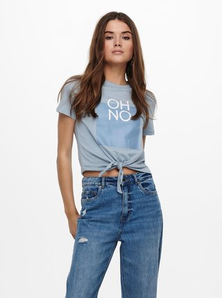 Modré tričko s potlačou ONLY