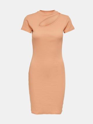 Marhuľové šaty s priestrihom ONLY Nessa
