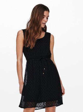 Černé puntíkované šaty ONLY