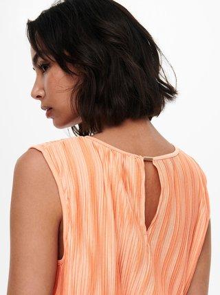 Oranžové plisované šaty ONLY