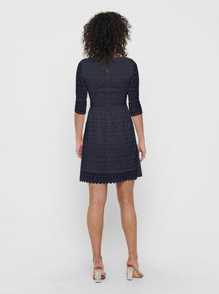 Tmavě modré krajkové šaty ONLY