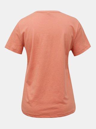 Koralové tričko s nápisom ONLY Ava