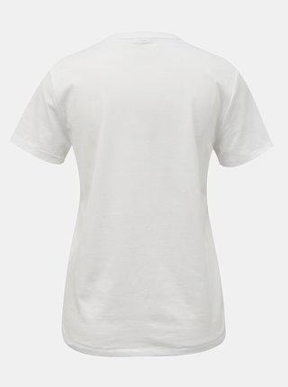 Bílé tričko s nápisem ONLY Ava