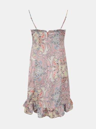 Ružovo-krémové vzorované šaty na ramienka ONLY Alexa