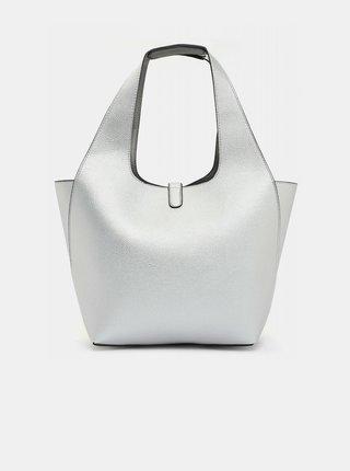 Oboustranný shopper s odnímatelným pouzdrem ve stříbrné barvě Tamaris