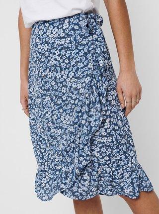 Modrá květovaná sukně ONLY
