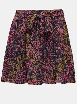 Růžovo-modrá květovaná sukně ONLY