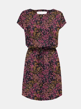 Růžovo-modré květované šaty ONLY