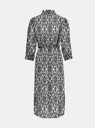 Černo-krémové vzorované košilové šaty ONLY-Nova