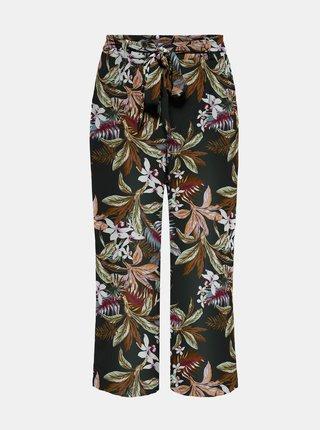 Černé květované kalhoty ONLY-Nova