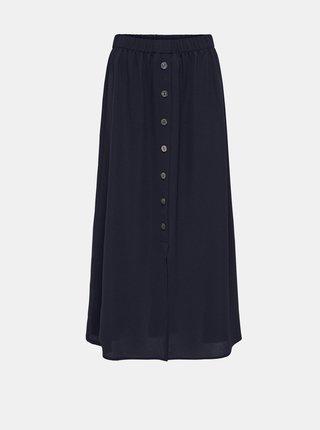 Tmavomodrá maxi sukňa s gombíkmi ONLY Nova