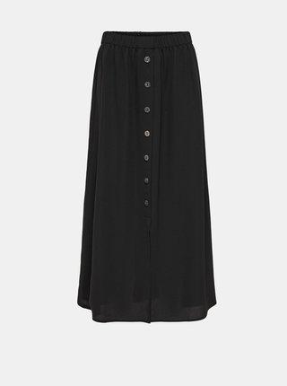 Černá maxi sukně s knoflíky ONLY Nova