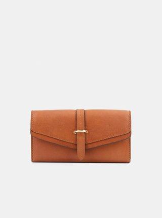 Hnedá kožená peňaženka Pieces Lenna
