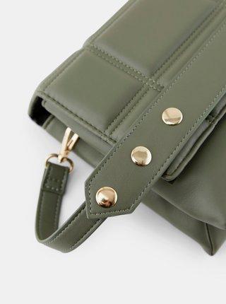 Zelená crossbody kabelka Pieces Tabita