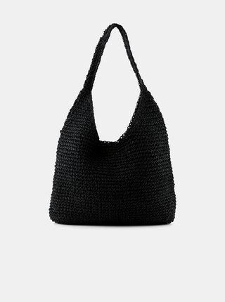 Černá slaměná taška Pieces Longo