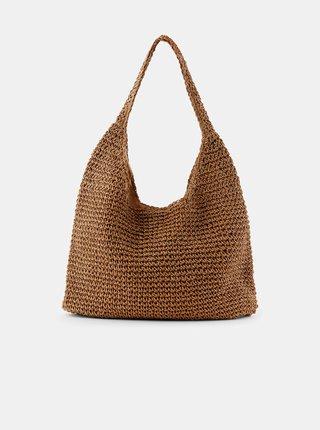 Hnedá slamená taška Pieces Longo