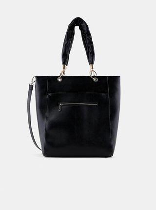 Černá velká kabelka Pieces Tabit
