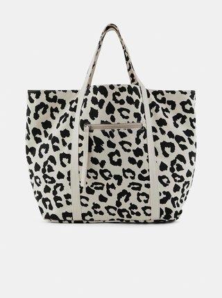 Černo-krémová vzorovaná taška Pieces Talle