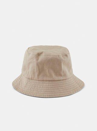 Béžovo-čierny obojstranný klobúk Pieces Mavis
