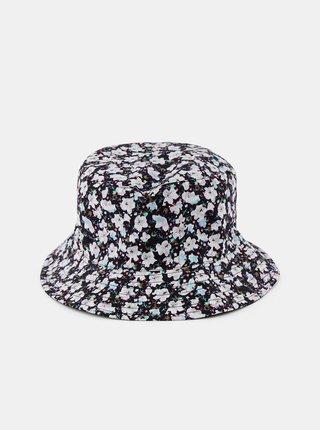 Černý květovaný klobouk Pieces Magorita