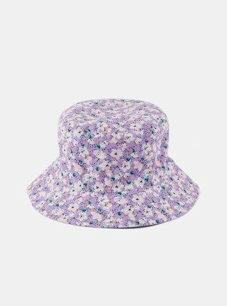 Fialový květovaný klobouk Pieces Magorita