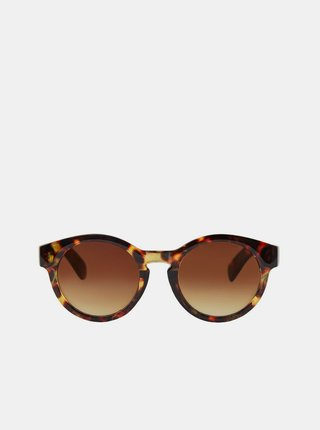 Slnečné okuliare pre ženy Pieces - hnedá