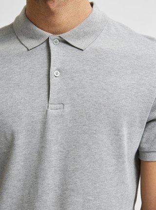 Šedé polo tričko Selected Homme