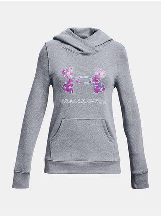 Mikina Under Armour Rival Fleece Logo Hoodie - šedá