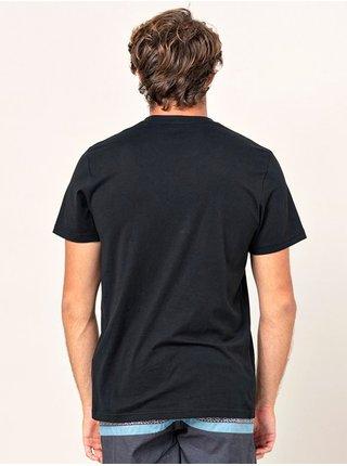 Rip Curl IN DA black pánské triko s krátkým rukávem - černá