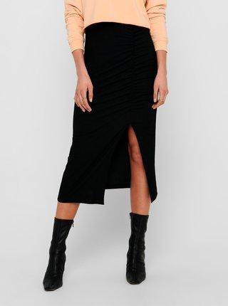 Černá pouzdrová sukně s rozparkem ONLY Nella