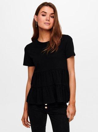 Černé volné tričko Jacqueline de Yong Pastel