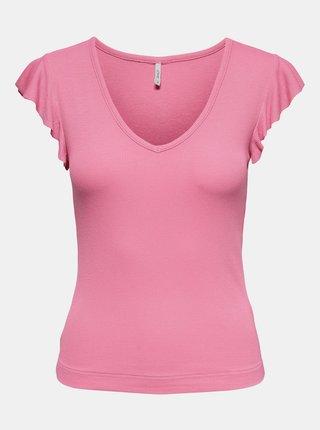 Růžové tričko ONLY Belia