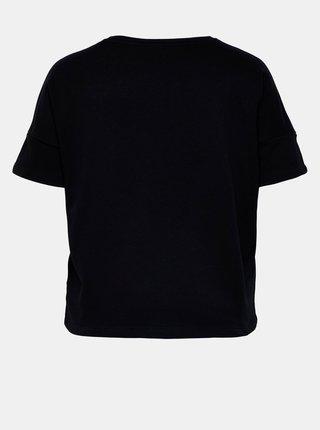 Černé tričko se stahováním ONLY CARMAKOMA Rissy